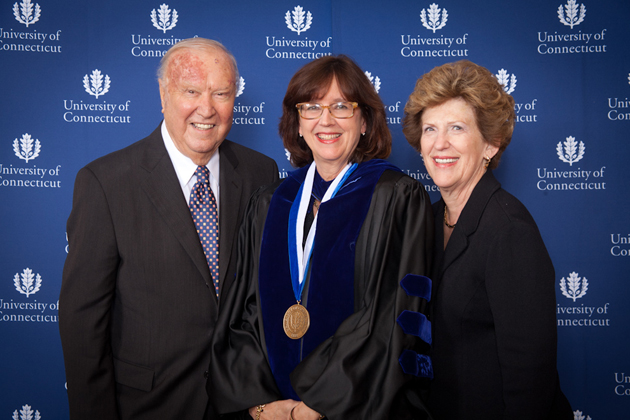 Ray and Carole Neag with Professor Sally Reis