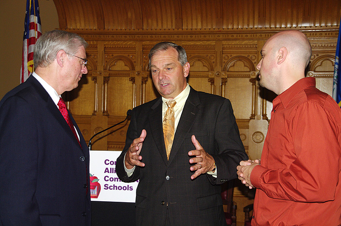 Richard Schwab, Dennis Van Roekel, and Barry Fargo